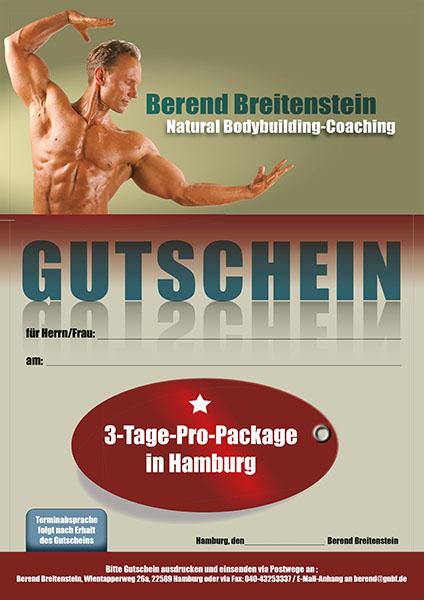 Gutenschein für 3-Tage Pro-Package in Hamburg